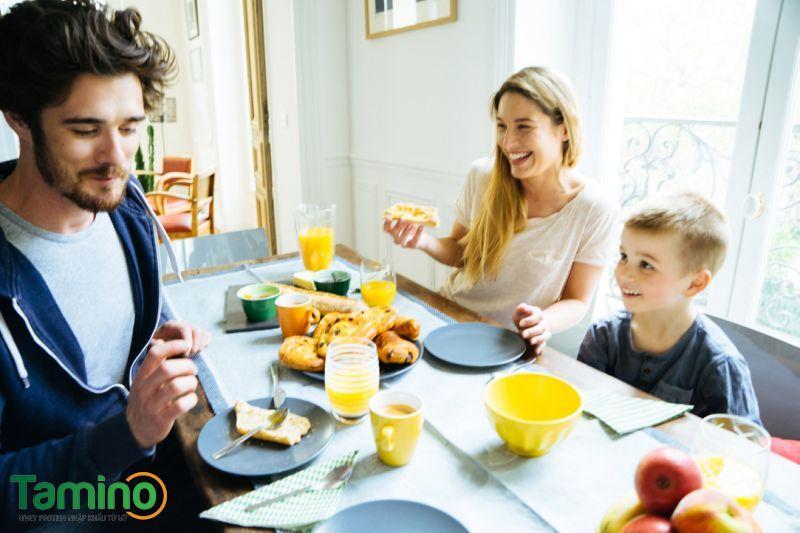 cách ăn sáng tăng cân 0