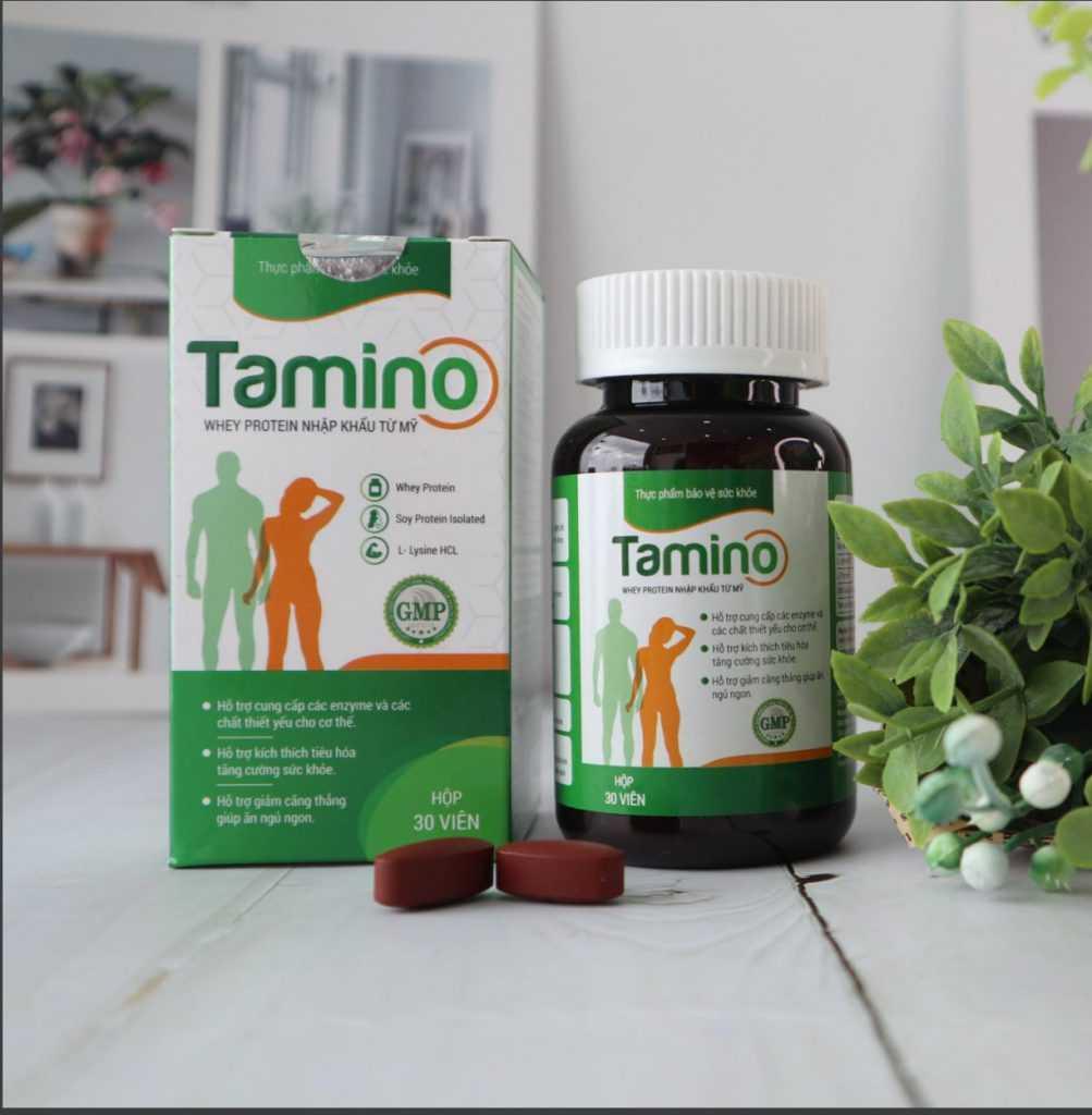 Tamino là dòng sản phẩm tăng cân đầu tiên ở Việt Nam tăng cân theo cơ chế kép vừa tăng