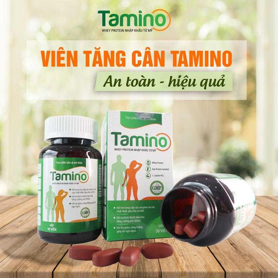 Viên uống tăng cân Tamino bậc thầy của người gầy tăng cân