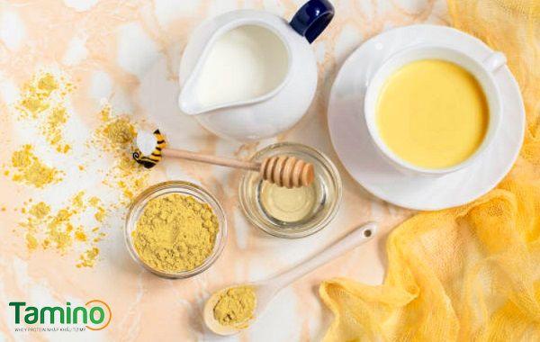 Uống tinh bột nghệ với sữa tươi tăng cân