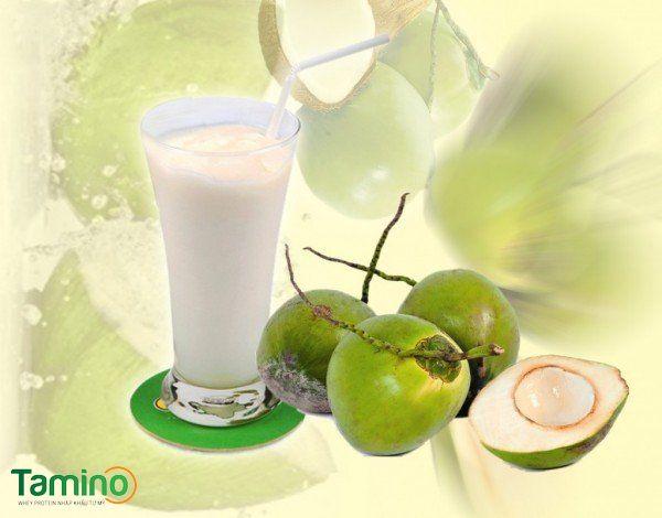 Sinh tố tăng cân dành cho người gầy sữa chua và dầu dừa