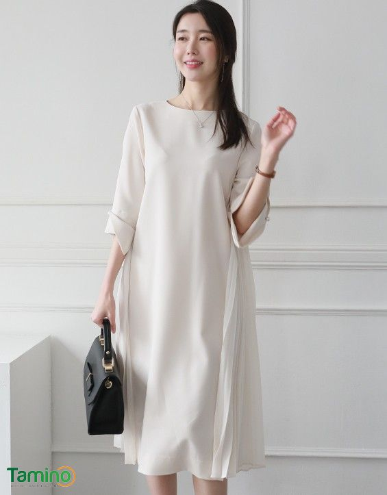 Thời trang công sở cho người gầy váy suông