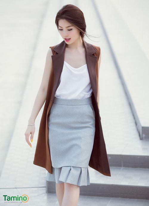 Chọn kiểu áo khoác không tay