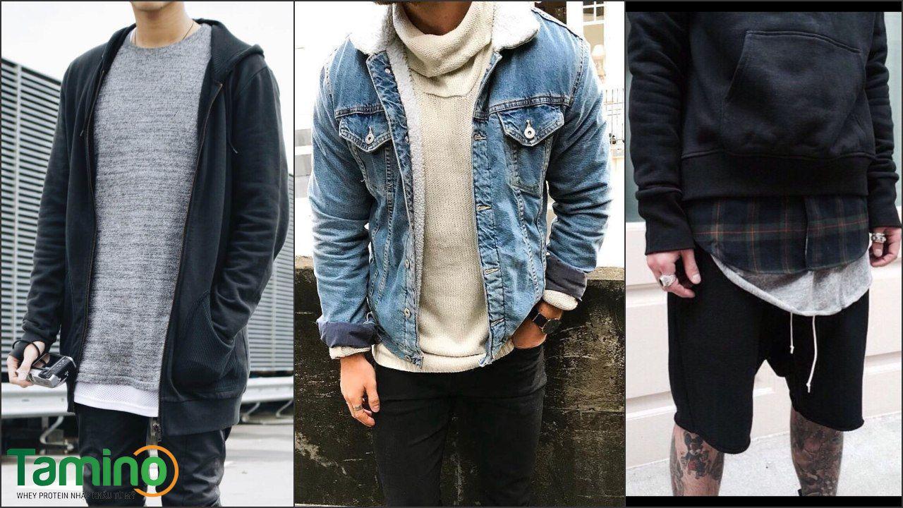 Gu thời trang cho người gầy kết hợp trang phục theo kiểu layer